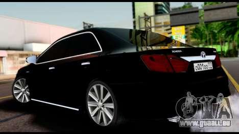 Toyota Camry 2013 pour GTA San Andreas laissé vue