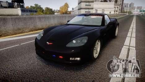 Chevrolet Corvette Z06 Unmarked Police [ELS] pour GTA 4