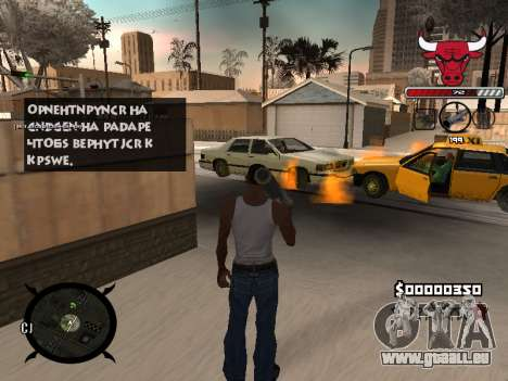 C-HUD Angry pour GTA San Andreas quatrième écran