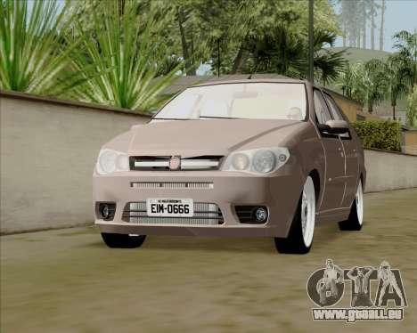 Fiat Siena 2008 pour GTA San Andreas vue de droite