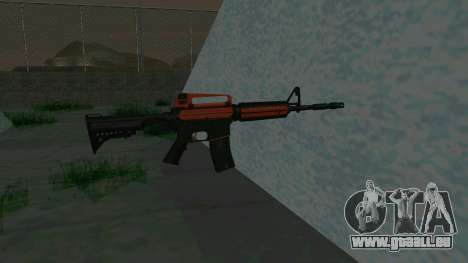 Orange M4A1 für GTA San Andreas dritten Screenshot