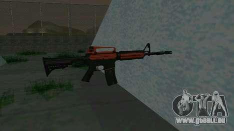 Orange M4A1 für GTA San Andreas dritten Screenshot