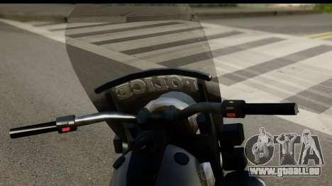 Police Bike GTA 5 pour GTA San Andreas sur la vue arrière gauche