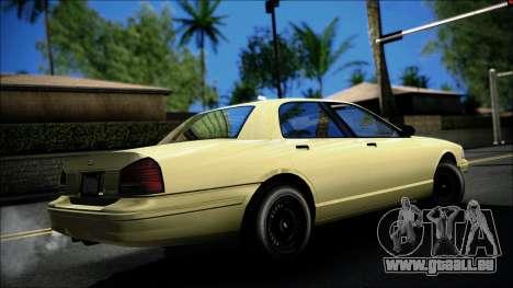 Civillian Vapid Stanier II from GTA 4 pour GTA San Andreas laissé vue
