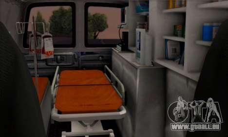 Chevrolet Exspress Ambulance für GTA San Andreas Rückansicht