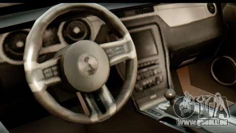 Ford Shelby GT500 RocketBunny pour GTA San Andreas vue arrière