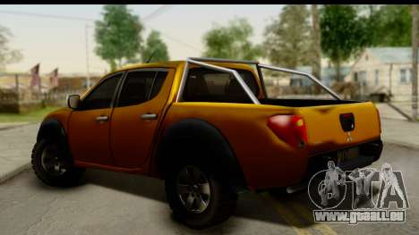 Mitsubishi L200 Triton v1.0 pour GTA San Andreas laissé vue