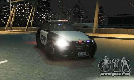 GTA V Ubermacht Sentinel Police [ELS] pour GTA 4 Vue arrière de la gauche