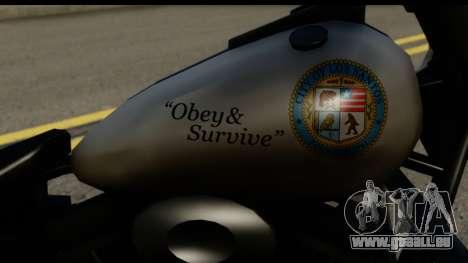 Police Bike GTA 5 für GTA San Andreas rechten Ansicht