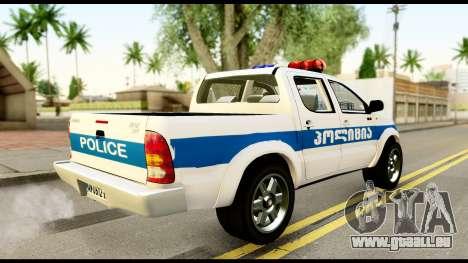 Toyota Hilux Georgia Police pour GTA San Andreas laissé vue