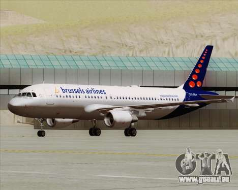 Airbus A320-200 Brussels Airlines für GTA San Andreas linke Ansicht