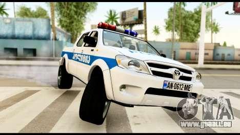 Toyota Hilux Georgia Police für GTA San Andreas