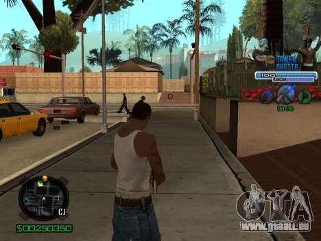 C-HUD для Ghetto pour GTA San Andreas troisième écran