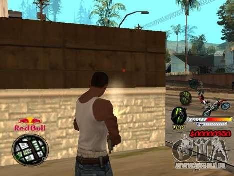 С-HUD RedBull pour GTA San Andreas troisième écran