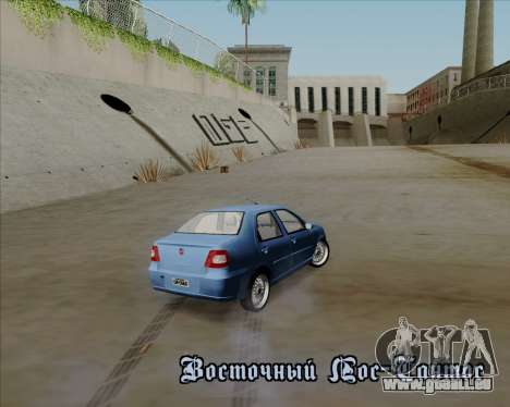 Fiat Siena 2008 pour GTA San Andreas vue de dessus