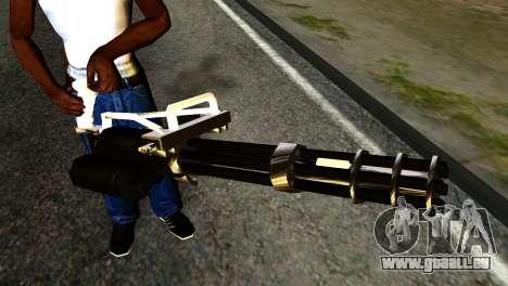 New Minigun pour GTA San Andreas troisième écran