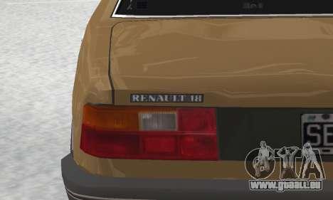 Renault 18 pour GTA San Andreas vue de dessus