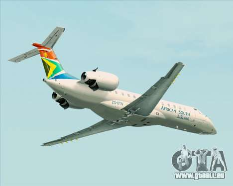 Embraer ERJ-135 South African Airlink für GTA San Andreas Rückansicht