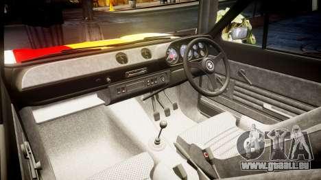 Ford Escort RS1600 PJ76 pour GTA 4 est une vue de l'intérieur