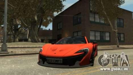 McLaren P1 2013 [EPM] für GTA 4 hinten links Ansicht