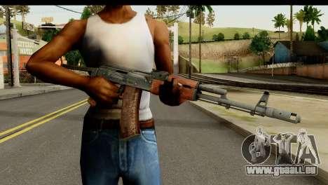 L'AKS-74 en Bois Foncé pour GTA San Andreas troisième écran