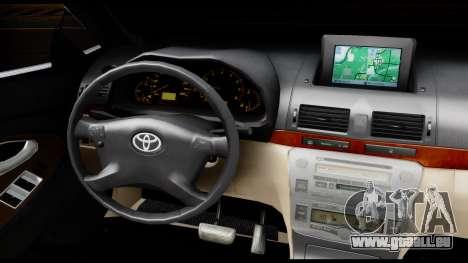 Toyota Camry 2013 pour GTA San Andreas vue intérieure