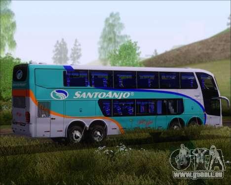 Marcopolo Paradiso G6 1800DD 8x2 SCANIA K420 für GTA San Andreas Rückansicht