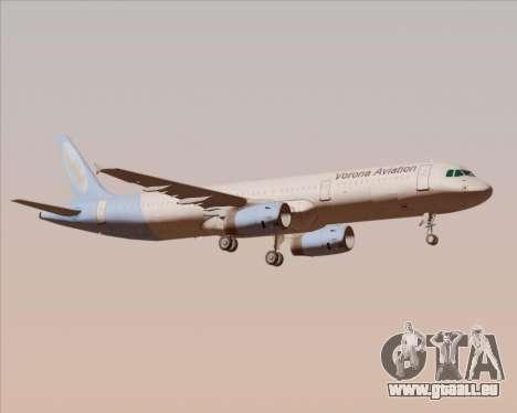 Airbus A321-200 Vorona Aviation für GTA San Andreas zurück linke Ansicht