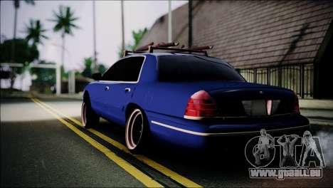 Ford Crown Victoria Stance Nation pour GTA San Andreas laissé vue