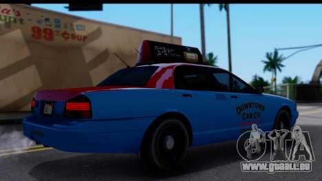 Taxi Vapid Stanier II from GTA 4 pour GTA San Andreas sur la vue arrière gauche