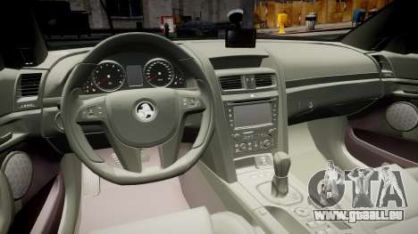 Holden Commodore Omega Series II Taxi v3.0 für GTA 4 Rückansicht