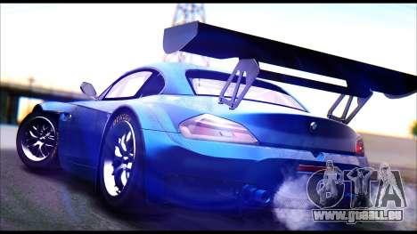 BMW Z4 GT3 pour GTA San Andreas laissé vue