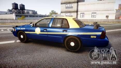 Ford Crown Victoria Virginia State Police [ELS] für GTA 4 linke Ansicht