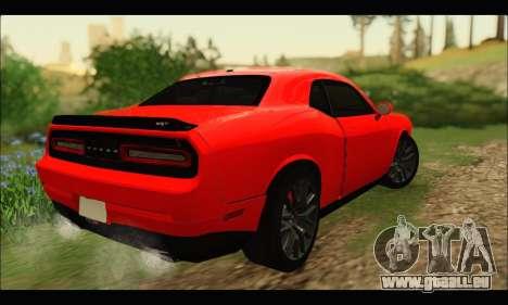 Dodge Challenger SRT HELLCAT 2015 pour GTA San Andreas sur la vue arrière gauche