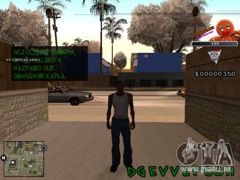 C-HUD Cookie pour GTA San Andreas deuxième écran