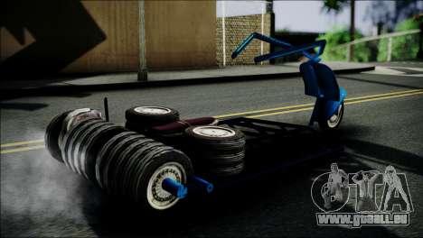 Vespa Gembel Extreme pour GTA San Andreas sur la vue arrière gauche