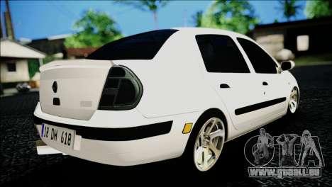 Renault Clio pour GTA San Andreas laissé vue