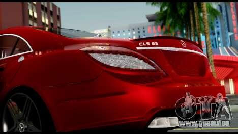 Mercedes-Benz CLS 63 AMG 2010 pour GTA San Andreas vue de côté