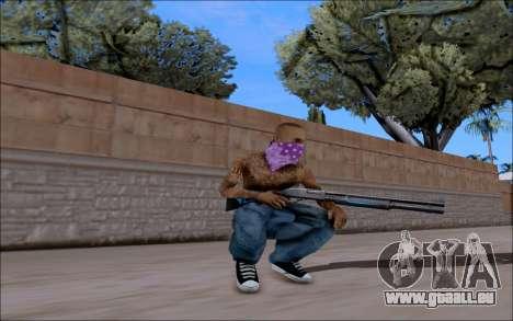 Blueline Gun Pack pour GTA San Andreas deuxième écran