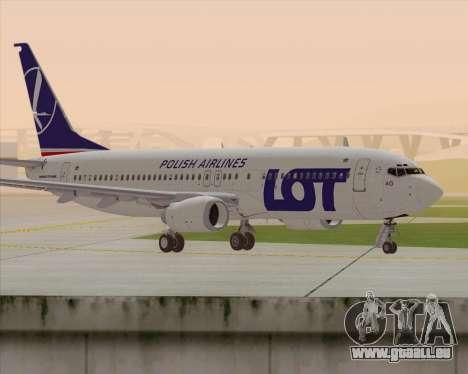Boeing 737-800 LOT Polish Airlines pour GTA San Andreas sur la vue arrière gauche