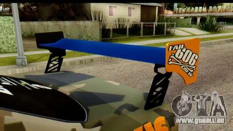 Nissan Skyline R34 Maxxis GT pour GTA San Andreas sur la vue arrière gauche