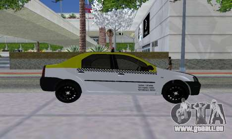 Dacia Logan Taxi pour GTA San Andreas vue de droite