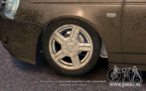 Lada 2172 für GTA 4 Innenansicht
