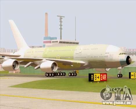 Airbus A380-800 F-WWDD Not Painted pour GTA San Andreas laissé vue