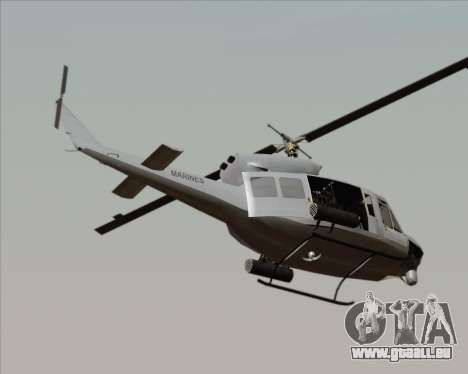 Bell UH-1N Huey USMC für GTA San Andreas linke Ansicht