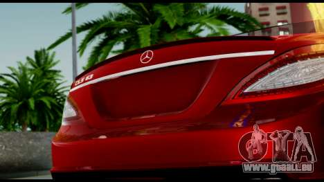 Mercedes-Benz CLS 63 AMG 2010 pour GTA San Andreas vue de dessus
