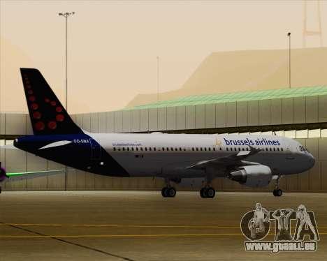 Airbus A320-200 Brussels Airlines pour GTA San Andreas vue de dessous