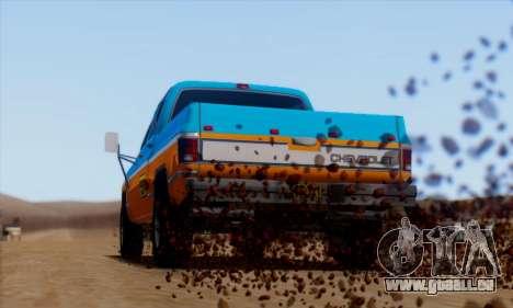 Chevrolet Custom Deluxe für GTA San Andreas zurück linke Ansicht