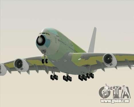 Airbus A380-800 F-WWDD Not Painted pour GTA San Andreas vue de côté