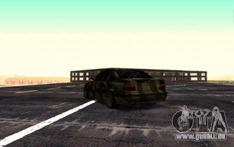 BMW M3 E36 Hunter pour GTA San Andreas vue de droite